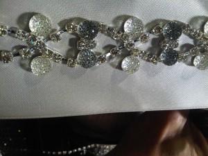 Dupioni Silk Linens, Crystal Embellishments