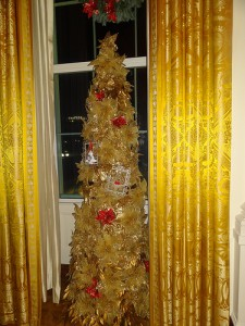 Gold Holiday Tree from 2012 Whote House Decorations